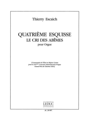 Esquisse N°4 Thierry Escaich Partition Orgue - laflutedepan