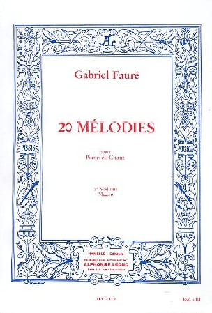 20 Mélodies Volume 2. Mezzo FAURÉ Partition Mélodies - laflutedepan