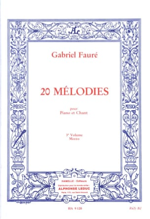 20 Mélodies Volume 3. Mezzo FAURÉ Partition Mélodies - laflutedepan