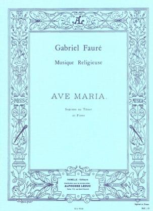 Ave Maria. Voix Haute FAURÉ Partition Mélodies - laflutedepan