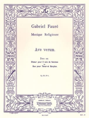 Gabriel Fauré - Ave Verum Opus 65-1 - Sheet Music - di-arezzo.co.uk
