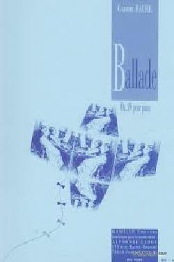 Ballade Opus 19 - Gabriel Fauré - Partition - Piano - laflutedepan.com