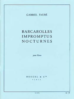 Gabriel Fauré - Barcarolles, Impromptus and Nocturnes - Sheet Music - di-arezzo.co.uk
