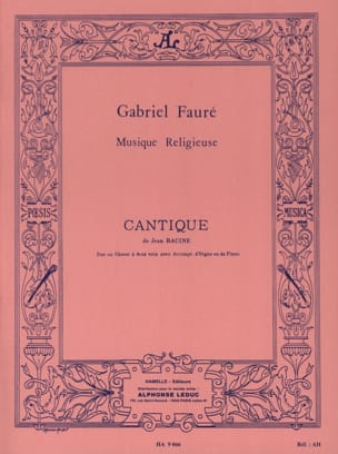 Gabriel Fauré - Song of John Racine Opus 11 2 Voice - Sheet Music - di-arezzo.co.uk