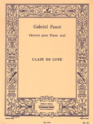 Clair De Lune FAURÉ Partition Piano - laflutedepan