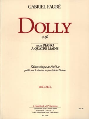 Gabriel Fauré - Dolly Opus 56. 4 Mains - Partition - di-arezzo.fr