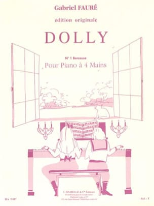 Berceuse, N°1 de Dolly Opus 56. 4 Mains FAURÉ Partition laflutedepan