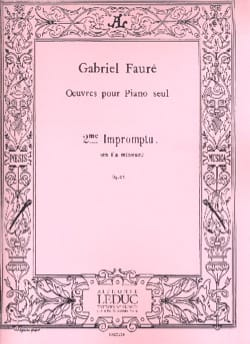 Gabriel Fauré - Impromptu N ° 2 Opus 31 - Sheet Music - di-arezzo.co.uk
