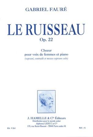 Gabriel Fauré - Le Ruisseau Opus 22 - Partition - di-arezzo.fr