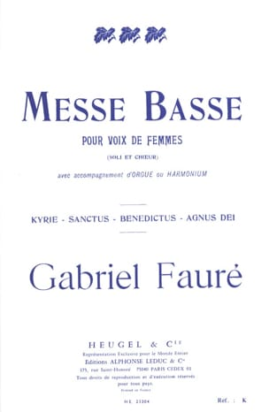 Gabriel Fauré - Low Mass for women's voices - Partition - di-arezzo.co.uk