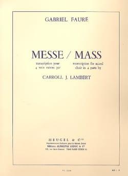 Gabriel Fauré - Messe - Partition - di-arezzo.fr