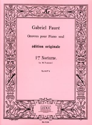 Nocturne N°1 Opus 33-1 - Gabriel Fauré - Partition - laflutedepan.com