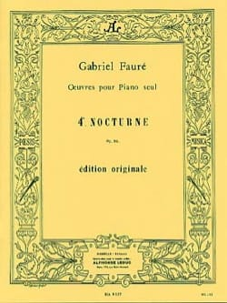 Gabriel Fauré - Nocturne N ° 4 Opus 36 - Sheet Music - di-arezzo.co.uk