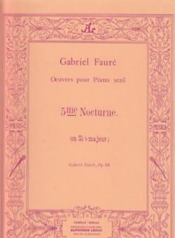 Gabriel Fauré - Nocturne N ° 5 Opus 37 - Sheet Music - di-arezzo.com