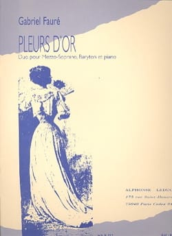 Gabriel Fauré - Pleurs D'or Opus 72 - Partition - di-arezzo.fr