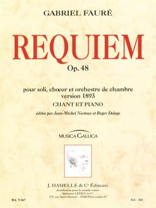 Requiem Version 1893 Gabriel Fauré Partition Chœur - laflutedepan