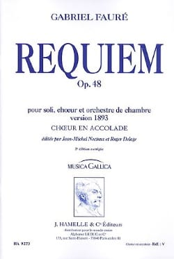 Requiem Opus 48 Version 1893. Choeur seul FAURÉ Partition laflutedepan