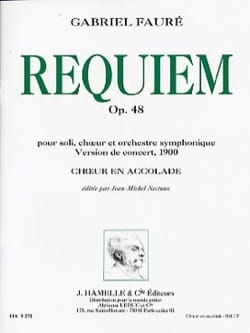 Requiem Opus 48 Version 1900. Choeur seul FAURÉ Partition laflutedepan