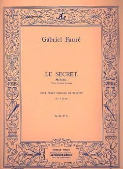 Le Secret Opus 23-3. Voix Moyenne - Gabriel Fauré - laflutedepan.com