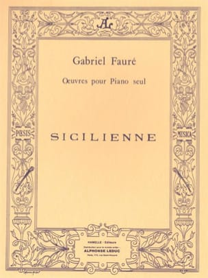 Gabriel Fauré - Sicilian Opus 78 - Partition - di-arezzo.co.uk