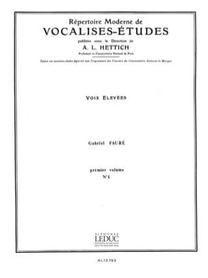Gabriel Fauré - Vocalise Etude N°1 - Partition - di-arezzo.fr