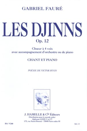 Gabriel Fauré - The Djinns Opus 12 - Sheet Music - di-arezzo.co.uk