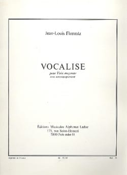 Jean-Louis Florentz - Vocalise. Voix Moyenne - Partition - di-arezzo.fr