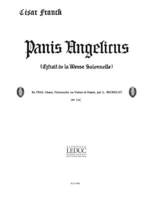 Panis Angelicus N° 14 - César Franck - Partition - laflutedepan.com