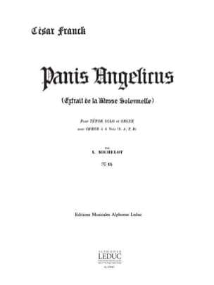 César Franck - Panis Angelicus N ° 15. - Sheet Music - di-arezzo.co.uk