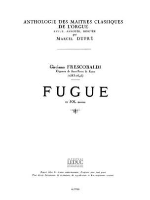 Frescobaldi Girolamo / Dupré Marcel - Fugue En Sol Mineur - Partition - di-arezzo.fr
