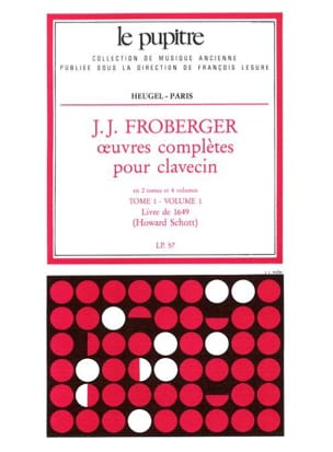Froberger Johann Jakob / Schott Howard - Complete Works for Harpsichord. Volume 1 Volume 1 - Sheet Music - di-arezzo.com