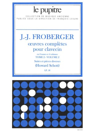 Froberger Johann Jakob / Schott Howard - Complete Works for Harpsichord. Volume 2 Volume 2 - Sheet Music - di-arezzo.co.uk