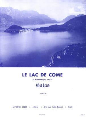 Lac de Côme Galas Partition Piano - laflutedepan