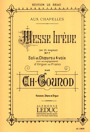 Charles Gounod - Brief Mass at Chapels No. 7 - Sheet Music - di-arezzo.com
