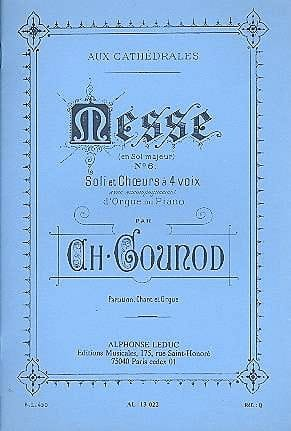 Charles Gounod - Messe N°6 Sol Majeur - Partition - di-arezzo.fr