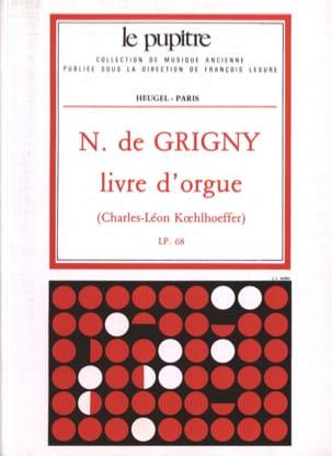 Grigny Nicolas de / Koehlhoeff - Livre D'Orgue - Partition - di-arezzo.fr