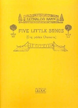 Reynaldo Hahn - 5 pequeñas canciones - Partitura - di-arezzo.es