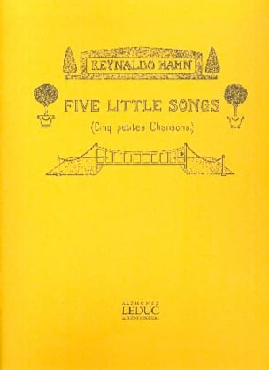 Reynaldo Hahn - 5 Little Songs - Partition - di-arezzo.co.uk