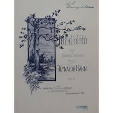 Infidélité Reynaldo Hahn Partition Mélodies - laflutedepan