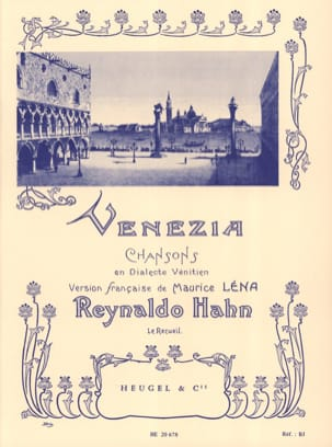 Reynaldo Hahn - Venezia - Sheet Music - di-arezzo.co.uk