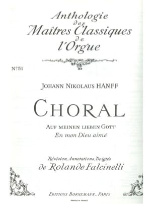Hanff Johann Nikolaus / Falcinelli Rolande - Choral : Auf Meinen Lieben Gott - Partition - di-arezzo.fr