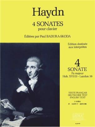 Haydn Joseph / badura-skoda - Sonate En Fa Majeur, Hob 16/23 - Partition - di-arezzo.fr