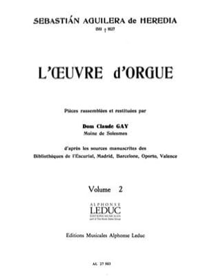 Aguilera de Heredia Sebastian - The work Organ Volume 2 - Sheet Music - di-arezzo.co.uk