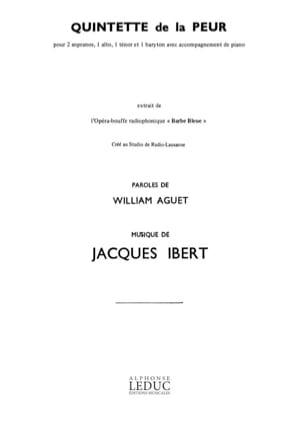 Quintette de la Peur. Barbe-bleue IBERT Partition laflutedepan