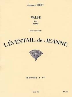 Valse - Jacques Ibert - Partition - Piano - laflutedepan.com