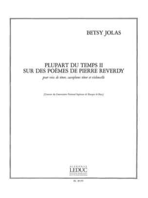Betsy Jolas - Mostly N ° 2 - Sheet Music - di-arezzo.co.uk