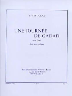 Betsy Jolas - Gadad's Day - Sheet Music - di-arezzo.co.uk