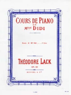 Théodore Lack - Studies of Miss Didi Opus 85 Book 1 - Sheet Music - di-arezzo.com
