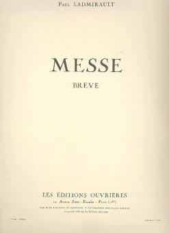 Messe Brève - Paul Ladmirault - Partition - Chœur - laflutedepan.com