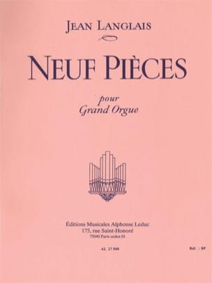 Jean Langlais - 9 piezas - Partitura - di-arezzo.es
